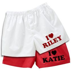 Men's Personalized I Heart Boxers