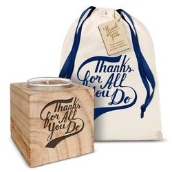 Personalized Thanks for All You Do Candle Gift Set