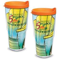 Two 24-Ounce Adirondack Chair Tumblers with Lids