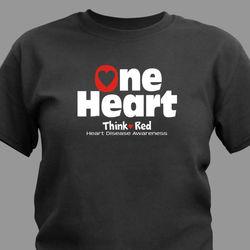 Heart Disease Awareness One Heart T-Shirt