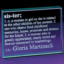 Sister Definition Glass Block