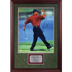 Framed Autographed Photo of Tiger Woods