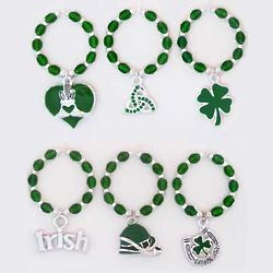 St. Patrick's Day Wine Charms