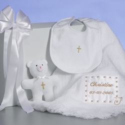 Personalized Christening Blanket Set