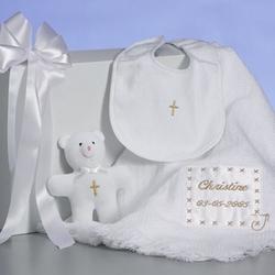 Personalized Christening Blanket Set