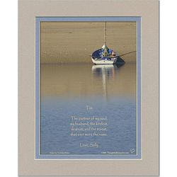 Husband or Boyfriend Poem Personalized Boat Print