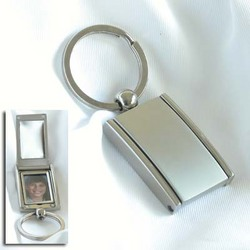 Personalized Satin Key Chain with Mirror & Picture Frame