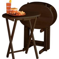 Winston Wood Oval TV Tables