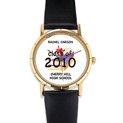 "Personalized ""Class of"" Graduation Diploma Watch"