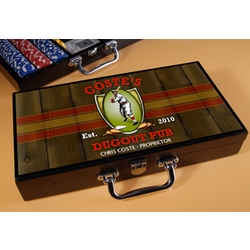 Personalized Poker Set with Dugout Image