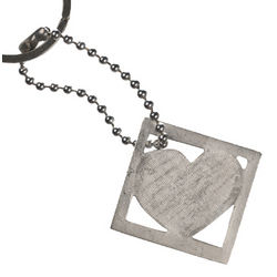 Square Heart Key Ring