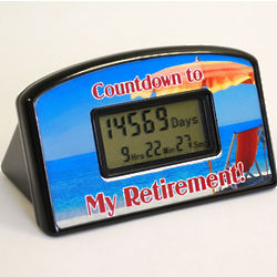 Beach Retirement Countdown Clock