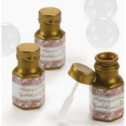 Personalized 50th Anniversary Mini Bubble Bottles