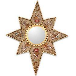 Star of Love Cedar Mirror