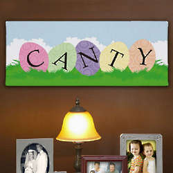 Easter Egg Family Wall Canvas