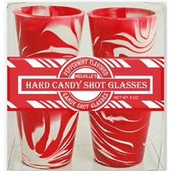 Peppermint Hard Candy Shot Glasses
