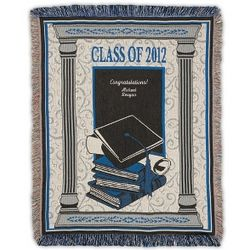 Blue 2012 Graduation Throw Blanket