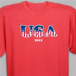 USA T-Shirt with Personalized Year