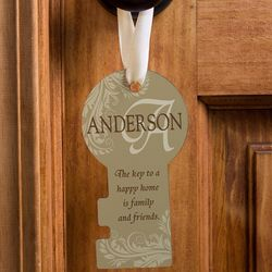 Personalized Happy Home Door Knob Hanger