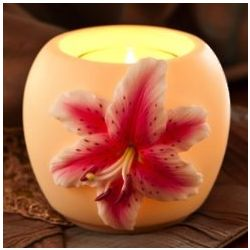Star Gazer Lily Votive Candle Holder