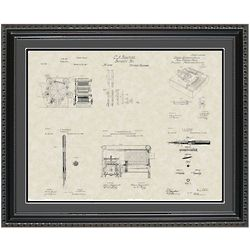 Publishing Equipment 20x24 Framed Patent Art