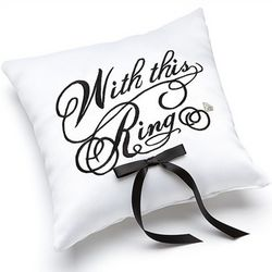 With This Ring Pillow