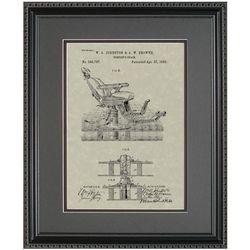 Dentist Chair Framed Patent Art Print