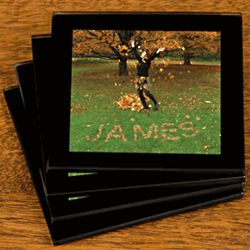 Leaves Personalized Coaster Set