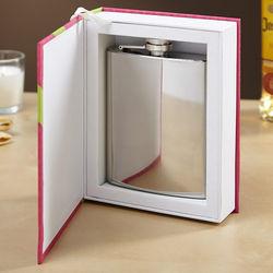 Hit the Books Engravable Hidden Flask