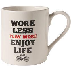 Work Less, Play More Advice Mug