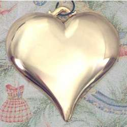 Personalized Goldtone Heart Christmas Ornament