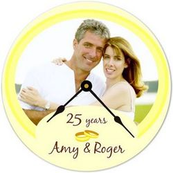 Anniversary Keepsake Photo Clock