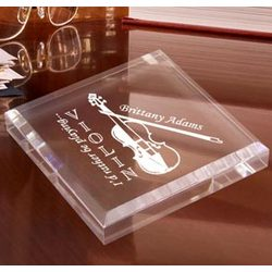 Personalized Violin Paperweight