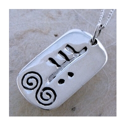 June Silver Celtic Astrology Pendant