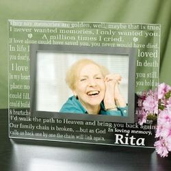 Engraved In Loving Memory Glass Frame