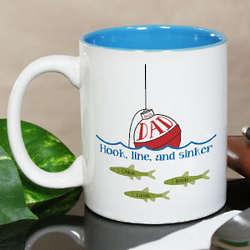 Personalized Best Dad Fishing Coffee Mug