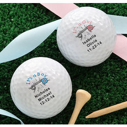 Personalized New Baby Nike Mojo Golf Balls