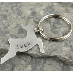 Big Buck Personalized Hand Stamped Necklace or Keychain