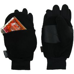 Men's Fingerless Gloves with Heat Packs
