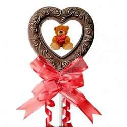 Valentine Bear Jumbo Milk Chocolate Lollipop