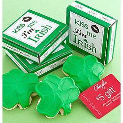 Kiss Me I'm Irish Cookie Greeting and Reward Card