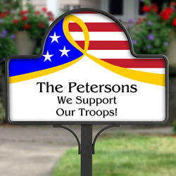 Support Our Troops Yard Stake with Magnet