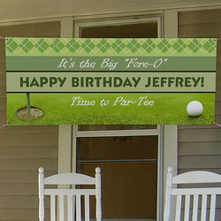 Golf Personalized Vinyl Party Banner