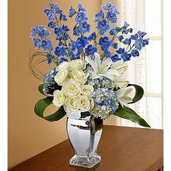 Silver Celebrations Floral Arrangement