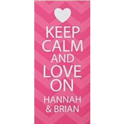 Personalized Keep Calm and Love On Canvas