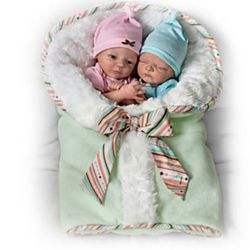 Lifelike Twin Baby Doll Set
