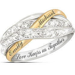 Personalized Together in Love Diamond Ring