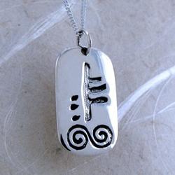 January Silver Celtic Astrology Pendant