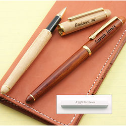 Executive Wood Rollerball Pen