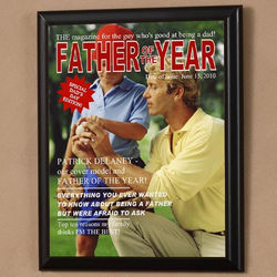 Personalized Father of The Year Photo Magazine Cover